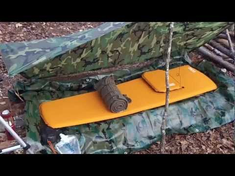 2 Bushcraft US Military Poncho Survival Tarp Shelter Set ups