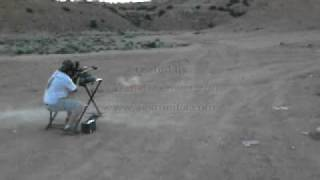 Guy shoots 1000 yards with sniper rifle and gets hit by ricochet