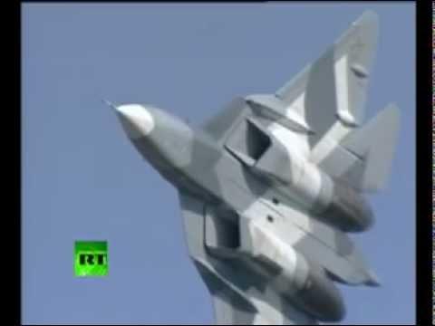 ПАК ФА демонстрационный полёт