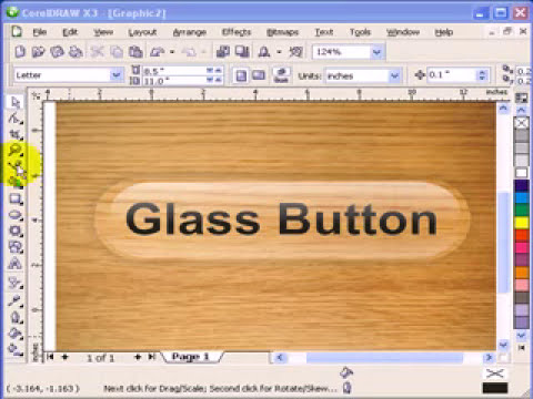 Glass Effect in CorelDraw