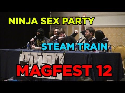 Ninja Sex Party & Steam Train At Magfest 12   2014 (with Subtitled Questions) video