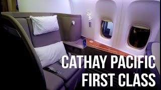 Cathay Pacific First Class BOS-HKG CX811 - British Airways Lounge Logan Airport