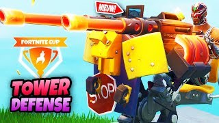 TURRET TOWER DEFENSE?! | Fortnite Mini-game Playgrounds (Fortnite Cup)