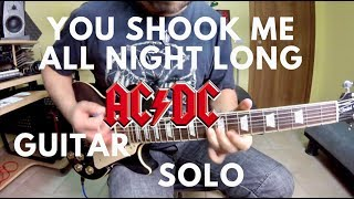 Ac Dc You Shook Me All Night Long Guitar Solo
