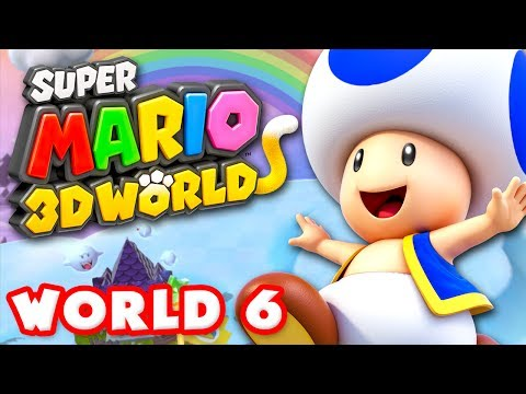 Super Mario 3D World - World 6 100% (Nintendo Wii U Gameplay Walkthrough)