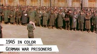 German war prisoners, 1945 (in color)