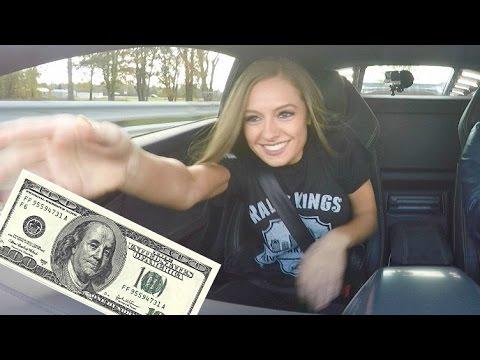 Lindsay Plays $100 Bill Game In A Lamborghini! FAIL