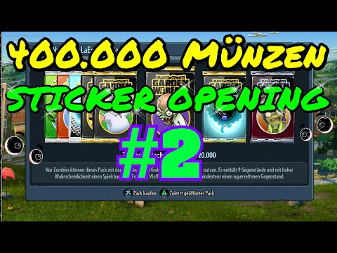 Plants Vs Zombies Garden Warfare Sticker Pack Opening PS4 deutsch [HD+] #2
