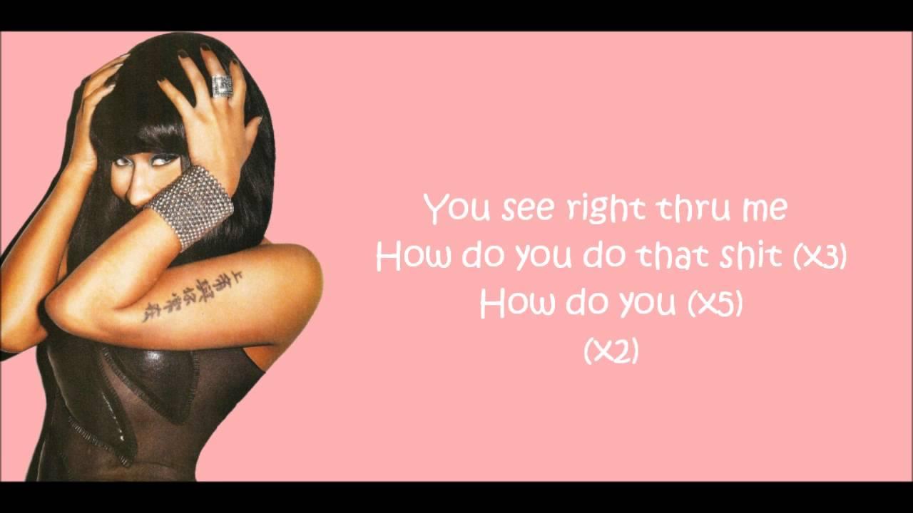 Nicki Minaj Right Thru Me Lyrics Video YouTube