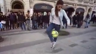 amazing Funny algerian Girl Football freestyle 2016