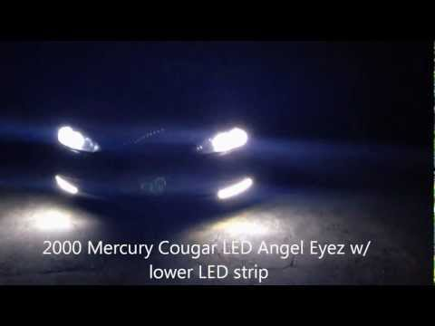 2000 Mercury Cougar V6 all black cheap LED Angel Eyez and LED strip placement