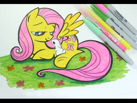 My little pony coloring pages fluttershy baby