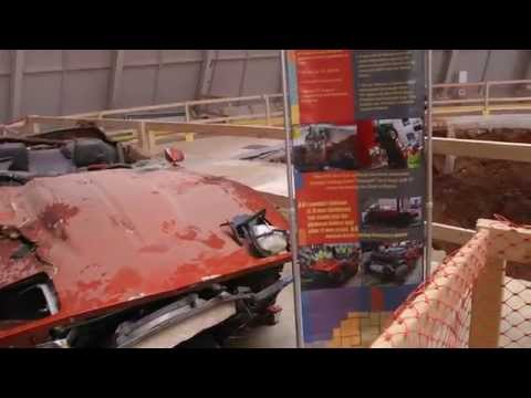 Sinkhole and Crushed Corvettes and Corvette Museum in Bowling Green, KY