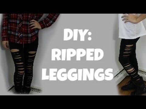 DIY: Ripped Leggings ♡ + Mini Lookbook