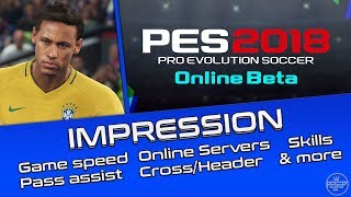 PES 2018 Impression (Online BETA) Gameplay