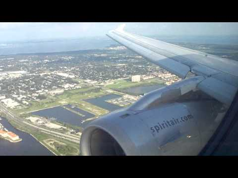 Airbus A319 Landing at Tampa International Airport 8/2/11