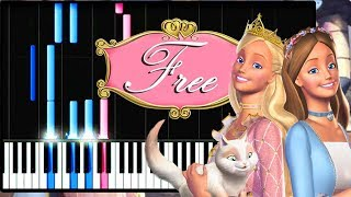 Barbie The Princess And The Pauper (Free) -  Piano synthesia