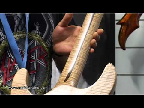 KRAKEN CUSTOM GUITARS ONE PIECE GUITAR video demo [Musikmesse 2011]