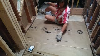 Bathroom Renovation & Tub to Barrier Free Shower Conversion (Part 30) ..Prepping the Subfloor