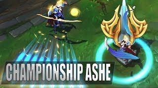 CHAMPIONSHIP ASHE Skin Gameplay Spotlight   League of Legends