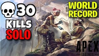 30 KILLS on Apex Legends *NEW WORLD RECORD* (On Console)