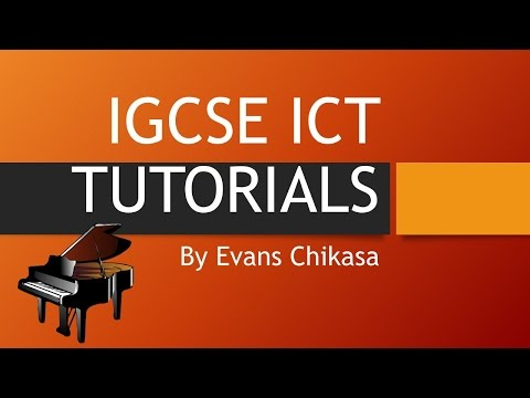 ICGSE ICT 2016 Specimen Paper 2 Document Production