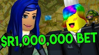 I BET ITSFUNNEH 1 MILLION ROBUX SHE CAN'T BEAT ME