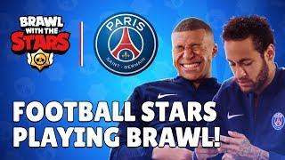 Paris Saint-Germain Stars play Brawl Stars