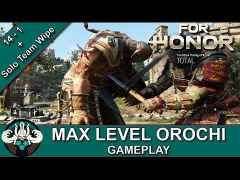 For Honor | Max Level Orochi 14-1 Killstreak Samurai Gameplay