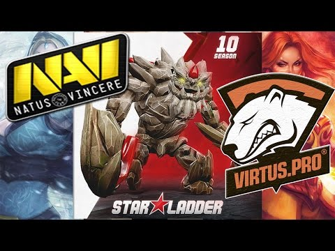 NaVi vs Virtus.pro Star Ladder Star Series Season 10 Dota 2 Lan RUS