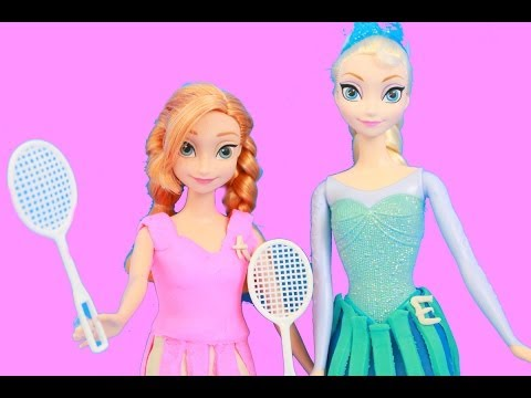 Frozen ELSA Play Doh Tennis Outfits Tutorial Disney Princess Anna Kristoff BARBIE