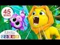 Jungle Animals Baby Monkey Peekaboo Animal Song More Kids Songs By Little Angel mp3