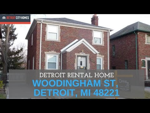 Detroit Rental Home - 18xxx Woodingham, Detroit, Mi 48221 video
