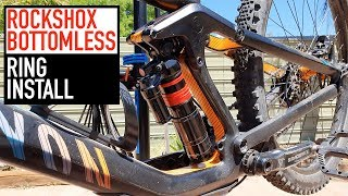 How To Install Rockshox Monarch/Vivid Air Bottomless Rings (Volume Spacers)