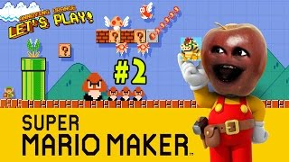 Midget Apple plays Mario Maker #2: SHAVE the Princess! | Annoying Orange Gaming