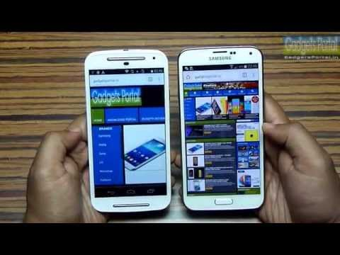MOTO G (2nd Generation) vs GALAXY S5! -Speed Test [Must Watch]