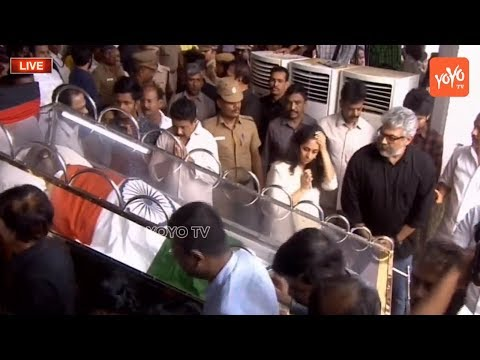 Ajith Kumar, Shalini Pay Tribute to Karunanidhi | Prabhu | Chennai | Tamil Nadu | YOYO TV Channel