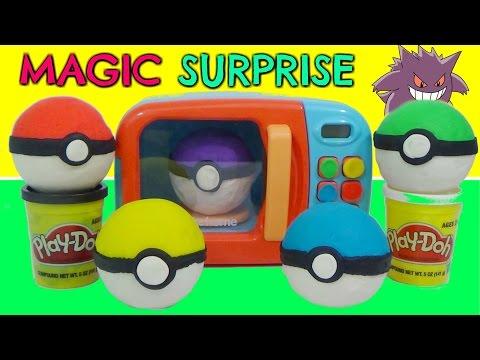 POKEMON Play-Doh  Surprises & Magic Microwave Playset