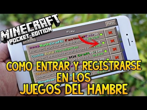Como Entrar en Los Juegos del Hambre - Minecraft Pe 1.0 (Pocket Edition) - Tutorial Definitivo !!