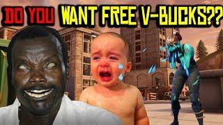 African Rebel Making a Kid CRY Over Free V-BUCKS on Fortnite! VOODOO RETURNS