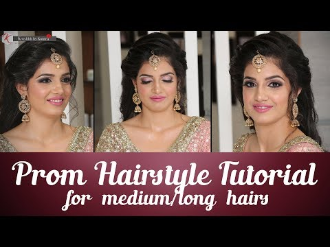 Prom Hairstyle Tutorial For Long Hair | Step By Step Prom Hairstyle Tutorial | Krushhh By Konica