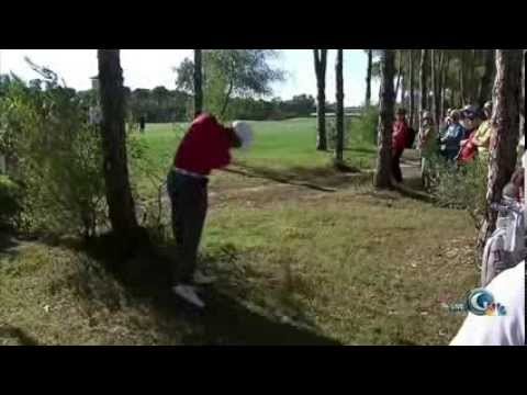Tiger Woods Through Hits While His Hand Struck a Tree