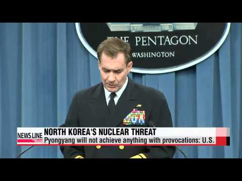 U.S. says North Korea will not achieve anything with threats, provocations   미국