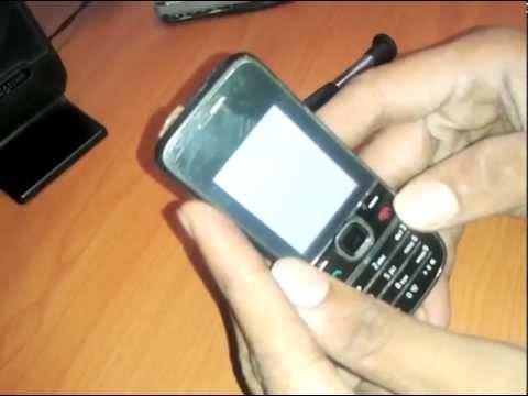Nokia 2700c Nokia Logo Then White Screen video