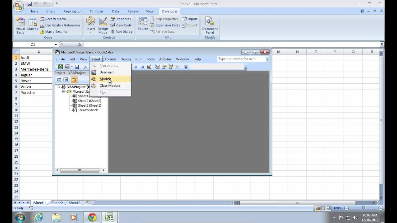 How to write into excel using vb6