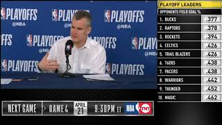 Billy Donovan postgame press conference | Thunder vs Blazers - Game 3 | 2019 NBA Playoffs