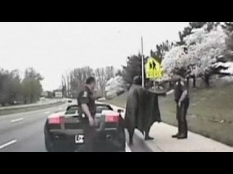 Batman stopped by Maryland cops - no comment