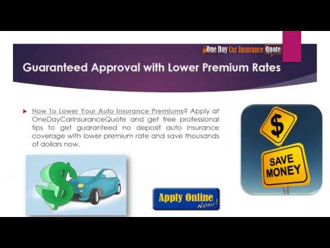 How To Lower Your Auto Insurance Premium with Bad Credit -- Get Guaranteed Approval With Cheap Rates