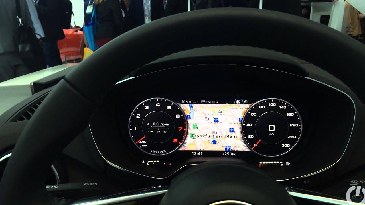 audi tt virtual cockpit digital dashboard  laser