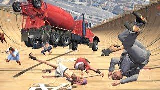 GTA 5 Epic Ragdolls Compilation #14 (Euphoria Physics   Funny Moments)